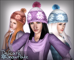 Delicate Snowflake ~ Winter Hat for Females by D3N1ZFTW