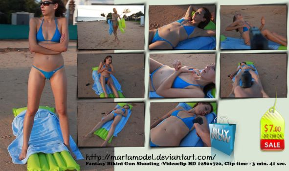 Fantasy bikini beach shot - HD clip- $ 7 by MartaModel