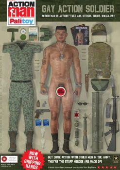 Gay Action Man Soldier (Share Ver.) by DevilishlyCreative