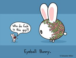Eyeball Bunny by sebreg