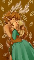 A kiss with Abernos by StressedJenny