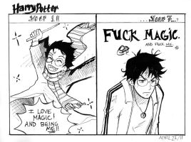 Harry's Magical Dichotomy by fluffy-fuzzy-ears