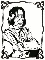 Severus Snape by FloraDelaney