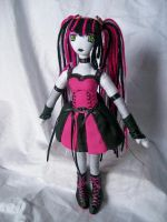 Pink Cyber Girl by dollmaker88