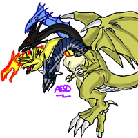 Five Headed God Dragon by AESD