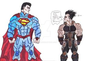 Saiyan vs Superman by Bender18