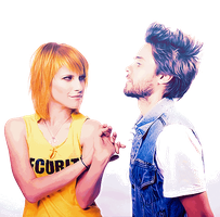 PNG Hayley Williams and Jared Leto by LadyWitwicky