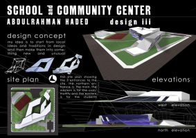 School and Community Center by AbdoHad