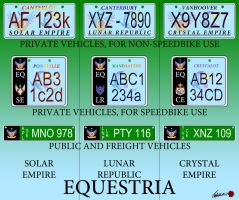 Equestria License Plates by frans97