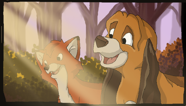 Tod and Copper by catpain