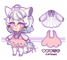 Puffy Tailmouth Adopt - [OPEN] by Cafhune