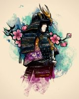 The Samurai and the Cherry. by obrunomota