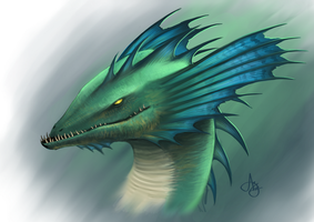 Sea dragon by Azcazach