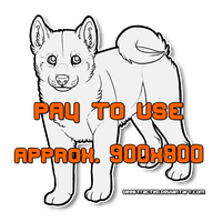 Shiba Inu Puppy LINEART [160pts] [TELL IF YOU BUY] by Deestracted