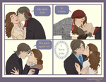 Rumbelle - Kissing by AngelQueen13