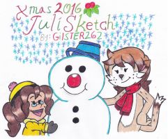 Xmas 2016: JuliSketch by gilster262
