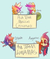 Ask Team Musical Crescendo and Team Lunamas! by MusicalCombusken