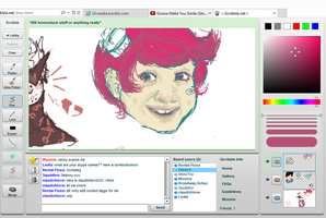 Trickster Jane iScribble (unfinished) by Knickersday