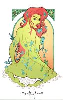poison ivy Art Nouveau by qualano