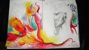 Pages from my sketch Pad pt1 by elethoniel