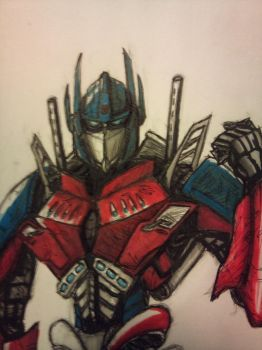 Optimus Prime by Monstermadness18