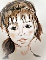 Portrait Of An Unknown Girl by CpointSpoint