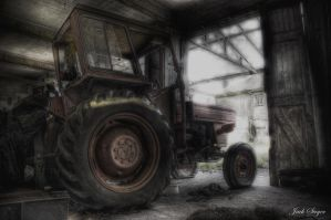 Tractor At The Abandoned Manor by JackSivyer