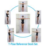 T-Pose Reference stock Set by charligal-stock