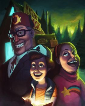 Gravity Falls by Philiduck