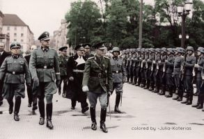 Ion Antonescu with german soldiers by Julia-Koterias