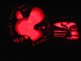 Link and Navi Pumpkin Carving by aderynthemoose