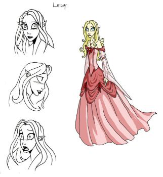 leilia, whiney elf princess by thecosmicfool
