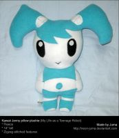 Kawaii Jenny pillow plushie by Neon-Juma