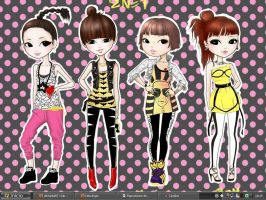 My 2NE1 desktop by pochysama