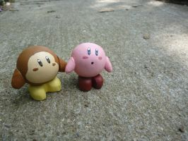 Wooden Kirby and Waddle dee#2 by Rachet777