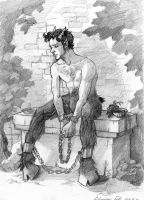 sad satyr by Sikidu