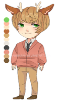 Preppy Deer Boy Adoptable Auction [closed] by Barasenpai