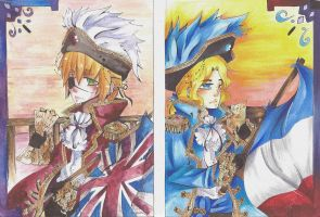 Pirate England and pirate France by raton-laveur-powa