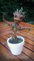 *SOLD*  Baby Groot Custom Sculpture 2 GOTG by stephanie1600