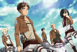 [ SnK ] Blue Sky and Five Soldiers by Sakon04