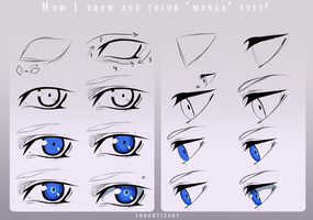 How I draw and color Manga Eyes! by SouOrtiz