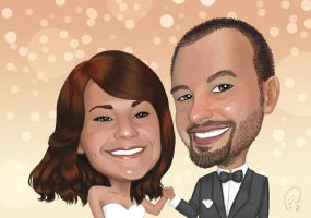 Steve and Tina Caricature by rebirthvirgo