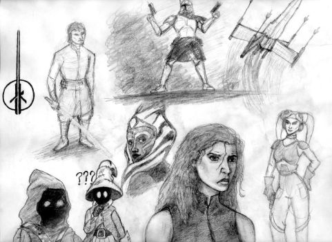 Star Wars Sketches by mtman318