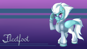 Wonderbolts Wallpaper 4: Fleetfoot by OokamiTheWolf1