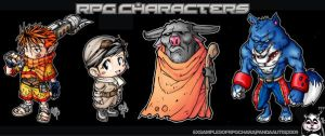 RPG charcters by pandaautis
