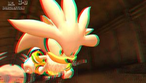 Silver The Hedgehog - Picture in 3D by I-G-imagination