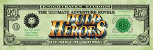 Pulp Heroes Bucks BookMark by WayneReinagel