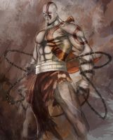 Kratos by Hawkmccloud
