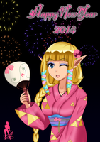 Zelda wishes you a Happy New Year! by SexyPinkLady