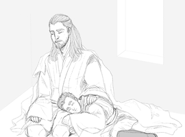 Sleeping Jedi 2 by boxOFjuice